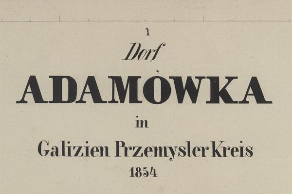 Adamówka – the 1854 map