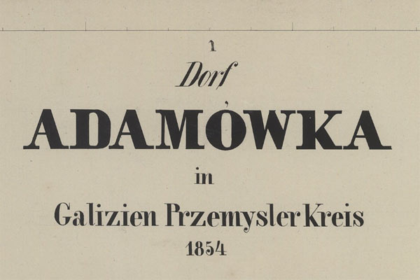 Adamówka – the 1854 map