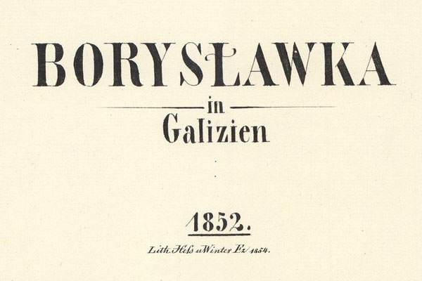 Boryslawka – the 1852 map
